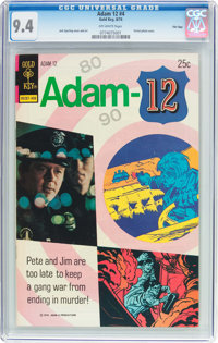 Adam 12 #4 File Copy (Gold Key, 1974) CGC NM 9.4 Off-white pages