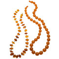 Estate Jewelry:Necklaces, Amber Bead Necklaces. . ... (Total: 2 Items)