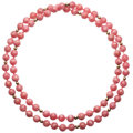 Estate Jewelry:Necklaces, Rhodochrosite Bead, Gold Necklace. . ...