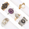 Estate Jewelry:Rings, Diamond, Multi-Stone, Gold Rings. . ... (Total: 6 Items)
