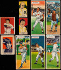 Baseball Cards:Lots, 1923-55 W515-1, Bowman, Wheaties and Topps Double HeadersCollection (9) With Ruth & Cobb. ...