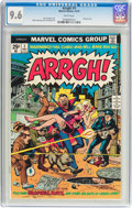 Bronze Age (1970-1979):Humor, Arrgh! #1 (Marvel, 1974) CGC NM+ 9.6 White pages....