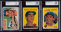 Baseball Cards:Lots, 1956-1959 Topps Sandy Koufax Beckett Graded Trio (3). ...