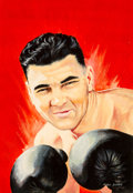 Pulp, Pulp-like, Digests, and Paperback Art, Peter Rotsel (American, 20th Century). Jack Dempsey. Oil on board. 17.375 x 12 in. (image). Signed lower right. Weid...