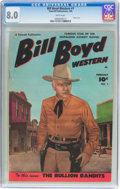 Golden Age (1938-1955):Western, Bill Boyd Western #1 (Fawcett Publications, 1950) CGC VF 8.0 White pages....
