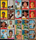 Baseball Cards:Lots, 1955-69 Multi-Brand Ernie Banks, Roberto Clemente & Al KalineCollection (20)....