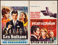 """Movie Posters:Foreign, The Sultans & Other Lot (Cedic, 1966). Belgians (2) (Approx. 14"""" X 21""""). Foreign.. ... (Total: 2 Items)"""