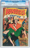 Golden Age (1938-1955):War, Rangers Comics #30 Lost Valley Pedigree (Fiction House, 1946) CGCVF 8.0 White pages....