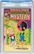 Bronze Age (1970-1979):Cartoon Character, Richie Rich Vault of Mystery #10 File Copy (Harvey, 1976) CGC VF+8.5 Off-white to white pages....