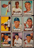 Baseball Cards:Lots, 1952 Topps Baseball High Number Collection (9)....
