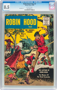 Robin Hood Tales #5 (Quality, 1956) CGC VF+ 8.5 Off-white pages