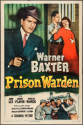 "Movie Posters:Crime, Prison Warden (Columbia, 1949). One Sheet (27"" X 41""). Crime.. ..."