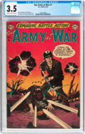 Golden Age (1938-1955):War, Our Army at War #1 (DC, 1952) CGC VG- 3.5 Cream to light tan pages....