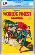 Golden Age (1938-1955):Superhero, World's Finest Comics #17 (DC, 1945) CGC FN 6.0 White pages....