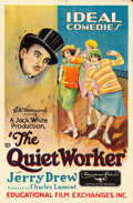 """Movie Posters:Comedy, The Quiet Worker (Educational, 1928). One Sheet (27"""" X 41"""").. ..."""