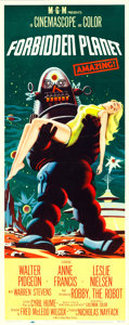 """Movie Posters:Science Fiction, Forbidden Planet (MGM, 1956). Insert (14"""" X 36"""").. ..."""