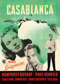 "Movie Posters:Academy Award Winners, Casablanca (Warner Brothers, 1946). First Post-War Release DanishPoster (24.5"" X 33.5""). Benny Stilling Artwork.. ..."