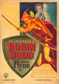 "Movie Posters:Swashbuckler, The Adventures of Robin Hood (Warner Brothers, 1945). First Post-War Release Italian Foglio (27.25"" X 39.5""). Artwork by Lui..."