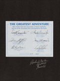 Autographs:Celebrities, The Greatest Adventure Limited Edition Book (#677/2000)Signed by Seven Astronauts....