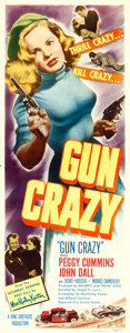 "Movie Posters:Film Noir, Gun Crazy (United Artists, 1949). Insert (14"" X 36"").. ..."