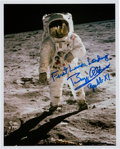 "Autographs:Celebrities, Buzz Aldrin Signed Apollo 11 Lunar Surface ""Visor"" Color Photo...."