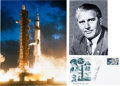 Explorers:Space Exploration, Wernher von Braun Signed Apollo 4 Launch Cover with Photos....(Total: 3 Items)