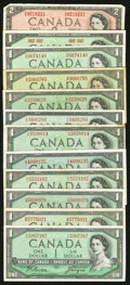 Canadian Currency: , An Assortment of Twenty-One Canadian Notes.. ... (Total: 21 notes)