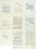 "Movie Posters:Miscellaneous, Sabu (1942-1951). 10 Signed Contracts (8.5"" X 11"", 24 Pages). ...(Total: 10 Items)"