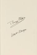 Autographs:Celebrities, Buzz Aldrin and Wayne Warga Signed Book: Return To Earth....