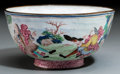 Asian:China Trade, A Chinese Export Peking Enameled Bowl, Qing Dynasty, QianlongPeriod, circa 1736-1795. 2-3/8 inches high x 4-5/8 inches diam...