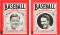 Baseball Collectibles:Publications, 1935-35 Baseball Magazines Lot of 2....