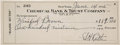 Baseball Collectibles:Others, 1935 Babe Ruth Signed Check....