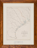 Miscellaneous:Maps, Map Showing Relative Geographical Position of San Bernard River& Other Waterways....