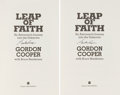 Autographs:Celebrities, Gordon Cooper Signed Book: Leap of Faith (Two Copies), withSmithsonian Provenance. ... (Total: 2 Items)