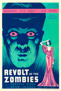 "Movie Posters:Horror, Revolt of the Zombies (Academy, 1936). One Sheet (27"" X 41"").. ..."