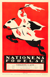 "The Birth of a Nation (Epoch Producing, 1918). Swedish One Sheet (22"" X 34""). Einar Nerman Artwork"