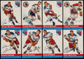 Hockey Cards:Lots, 1954 Topps Hockey Card collection (37). ...