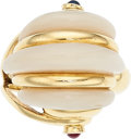 Estate Jewelry:Rings, Ruby, Sapphire, Mother-of-Pearl, Gold Ring. ...