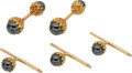 Estate Jewelry:Cufflinks, Hematite, Gold Dress Set, Schlumberger, Tiffany & Co.. ...(Total: 5 Items)