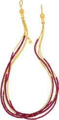 Estate Jewelry:Necklaces, Ruby, Gold Necklace, Gurhan. ...