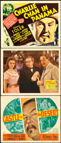 """Movie Posters:Mystery, Castle in the Desert & Other Lot (20th Century Fox, 1942).Title Lobby Cards (2) & Lobby Card (11"""" X 14"""").. ... (Total: 3Items)"""