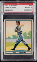 Baseball Cards:Singles (1940-1949), 1941 Play Ball Pinky Higgins #35 PSA NM-MT 8....