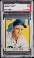 Baseball Cards:Singles (1940-1949), 1941 Play Ball Chuck Klein #60 PSA NM 7....