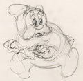 Animation Art:Production Drawing, Snow White and Seven Dwarfs Happy Animation Drawing (WaltDisney, 1937). ...