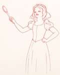 Animation Art:Production Drawing, Snow White and Seven Dwarfs Snow White Animation Drawing (Walt Disney, 1937)....