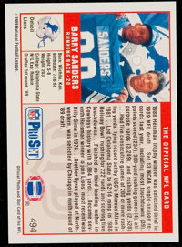 Signed 1989 Pro Set Barry Sanders Rookie Card Football