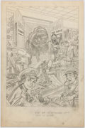 Original Comic Art:Splash Pages, Jerry Grandenetti 1st Issue Special #2 Splash Page 1 GreenTeam Original Art (DC, 1975)....