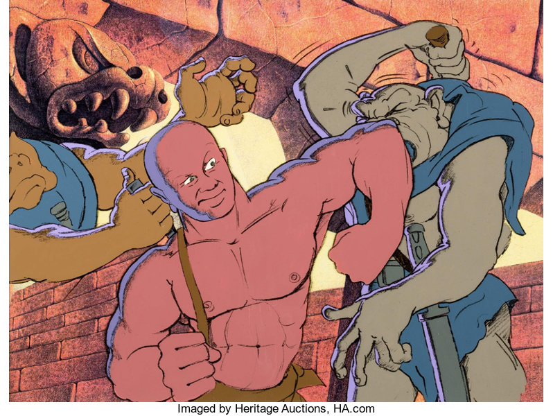 Heavy Metal Den And Mutants Production Cel Setup Columbia Lot 14144 Heritage Auctions