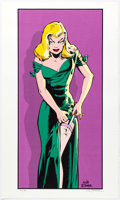 Memorabilia:Comic-Related, Will Eisner - The Spirit: Skinny Bones Signed Limited Edition Serigraph Print #32/200 (Kitchen Sink, 1995). ...