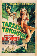 "Movie Posters:Adventure, Tarzan Triumphs (RKO, 1943). One Sheet (27"" X 41""). Adventure.. ..."